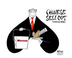Ann Telnaes  Ann Telnaes' Editorial Cartoons 2005-06-16 China human rights