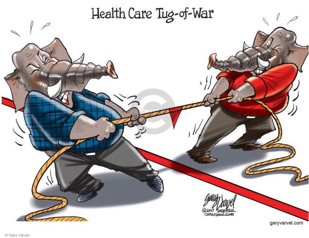 Health Care Tug-of-War.